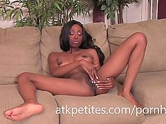 Courtney Foxxx Goes to Work on Her Sweet Black Pussy