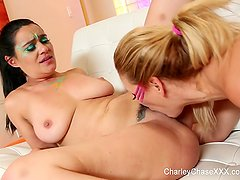 80s lesbians Charley Chase & Cherie DeVille get it on