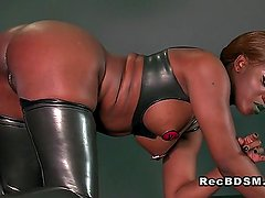 Busty ebony mistress interracial sex