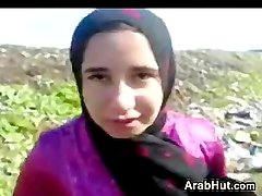 Arab In A Threesome Outdoors