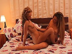 Lesbian Angel Snow and Ivana Sugar
