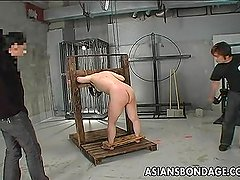 Asian bitch has a waxing and spanking bdsm se