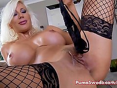 Blonde Euro babe Puma Swede is a Hot Stunner & Plays with Pussy!