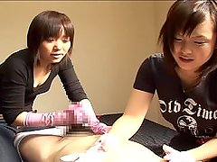 FF/M cute tickling teasing massage & handjob