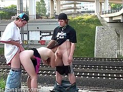 Real PUBLIC street young blonde teen sex