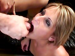 Courtney Simpson gets her mouth filled with warm cum