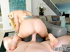 Step daughter gives dad a POV blowjob