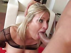 Sensual Harmony Rose chokes on this hard throbbing cock