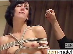 Pussy from DOM-MATCH.COM - CMNF Subtitled Japanese nose BDSM with E