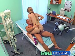 FakeHospital Cheated boyfriend wants tests but gets revenge with sexy blonde nurse