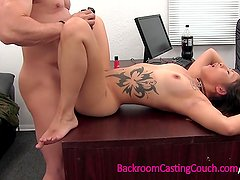 Anal Loving Vietnamese-German Army Girl on Casting Couch