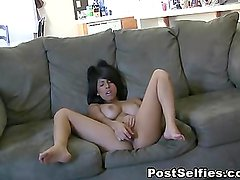 Naughty Busty Layla Rose Toys Her Pussy On Co