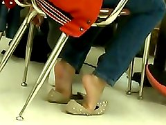 A Friend's Candid Shoeplay in Class
