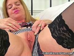 British milf Lily can t resist a strong sexual urge
