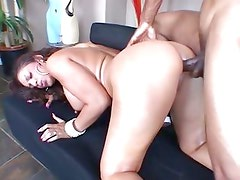 Ice La Fox gets cool and foxy as she gets it in her bung hole