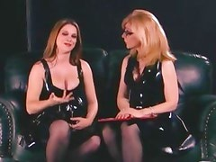 Girly sex talk gets dirty for Nina Hartley and No Name Jane during pregnancy