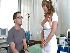 Ava Devine makes her man feel all better with the use of her holes