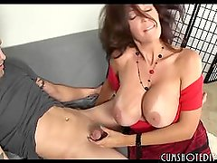 Hot Brunette MILF Fucking Her Daughter's Boyfriend