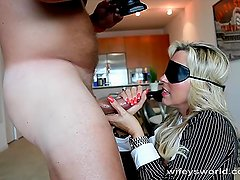 Wifey Gets a Blindfolded Halloween Treat