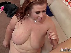 Mature BBW Lady Lynn fucks a young boy so sil