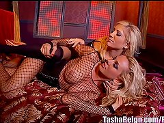Busty Blonde Tasha Reign is Tied Up For Sandy