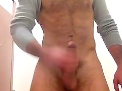 furry hung college guido jerks and cums in bathroom