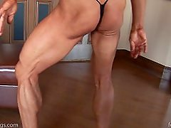 Ripped female bodybuilder