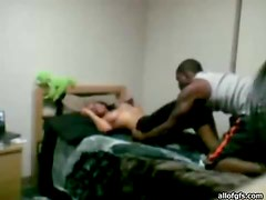 Interracial Homemade Fucking With A Teen Brunette And Her Horny Lover