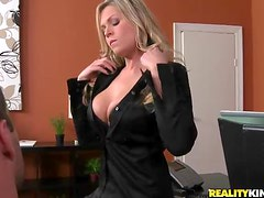 Sexy Attorney Darcy Tyler  Rides Her Client's Hard Cock