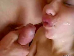 Blonde Teen gets Banged and a Facial in an Amateur Video