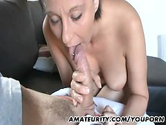 Amateur girlfriend with big tits homemade action