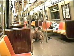 DAVID CHERIANO-PUBLIC NUDE PERVERT6-wank nude NYCSubway train with people!