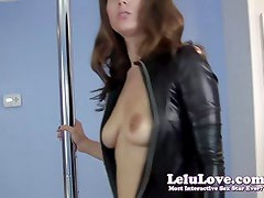 Lelu Love-Catsuit Striptease Blowjob Cumshot