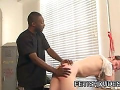 Luke Cross and Hot Boi - Nasty White Ass Spanking By Fetish Black Guy