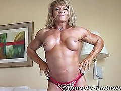 blonde ml with her nude buff physique