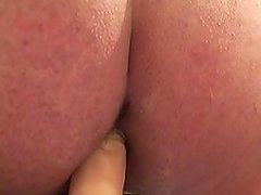 Anal with dildo while wife's away
