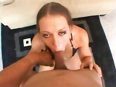 Alicia Alighatti gets her mouth stuffed with hard cock