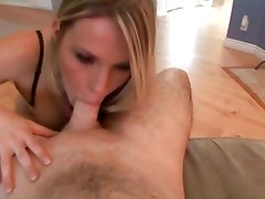 Engaging Harmony Rose the horny slut in a cock sucking session