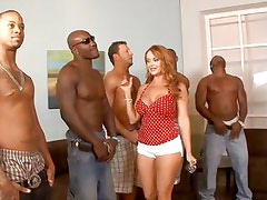 5 interracial guys lineup so that housewife Janet Mason can choose the best