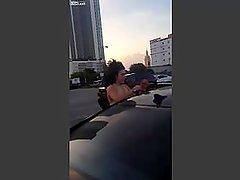 2 hoes fight in parking lot