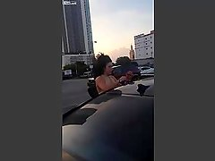 [PUSSY AND TITS EXPOSED] - 2 Hoes fight in public parking lot