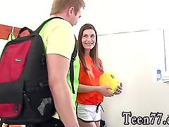 Horny teen balls licking and teen pussy