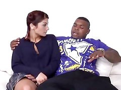 Dahlia Denyle gets her teen slut pussy stuffed with a massive black cock