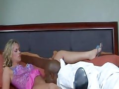 Kylie Worthy gets horny for black cock and seduces the nearest one