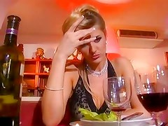Nasty tramp Jane Darling orders cock deluxe of this restaurant menu