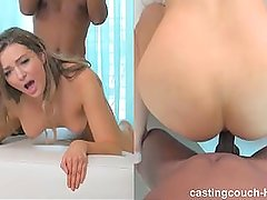 Tall Slender Model Takes Her First Black Cock @ Casting