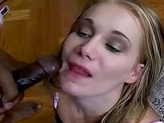 Nasty slut takes load in the mouth