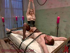 Blonde Dominatrix Babe loves Kinky Games