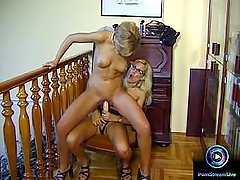 Raunchy milfs Zso and Lea toying dildo