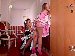 Alessandra Jane And Ally Breelsen - Maids Clean Pussies With Their Mouths